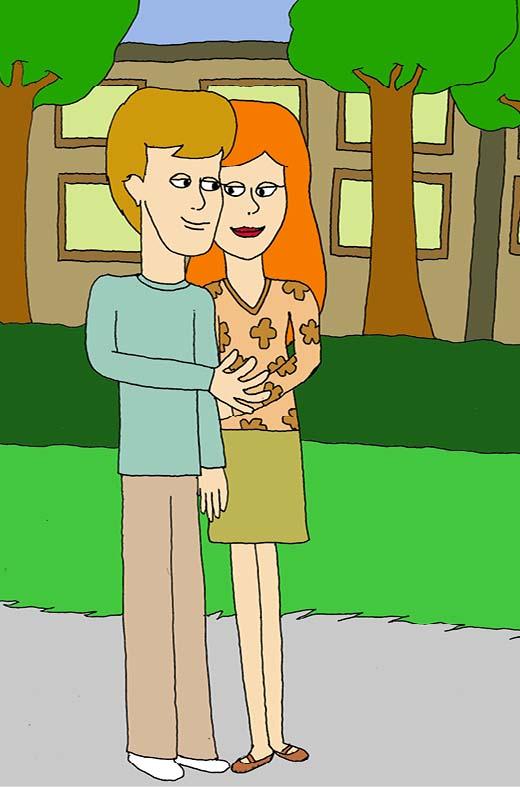 Carl och Sophia underbart väder