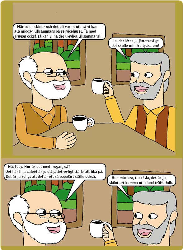 Matthew, Toby dricker kaffe