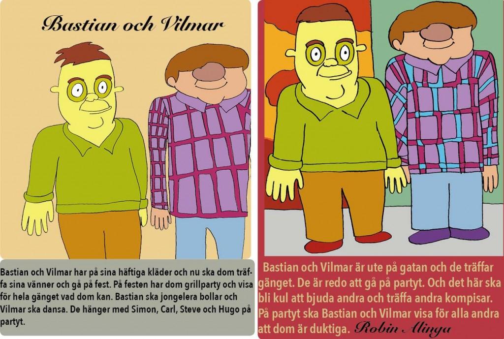 Bastian och Vilmar nya kläder