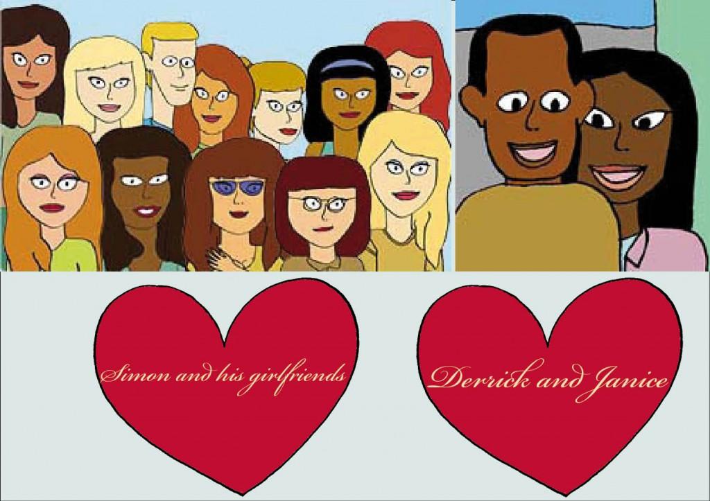 Simon och tjejerna. Derrick och Janice