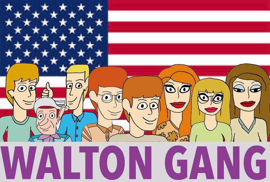 8 rollfigurer Walton Gang